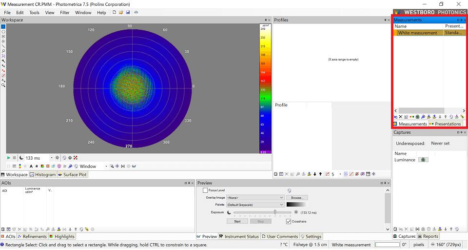Conometer80の測定結果表示位置