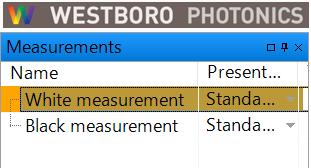測定結果項目