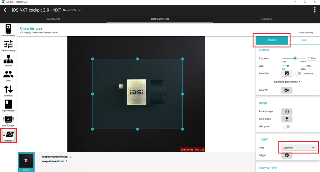 IDS社製 NXTカメラでAIを実践03